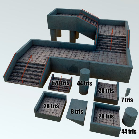 Stairs Asset - 3DOcean Item for Sale
