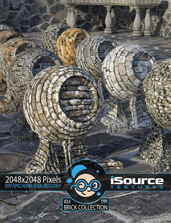 Brick Collection - Vol4 (PBR Textures) - 3DOcean Item for Sale