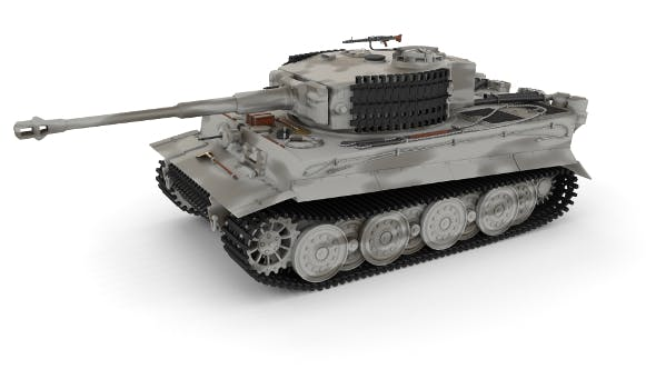 Panzer Tiger Tank Late 1944 v3 - 3DOcean Item for Sale