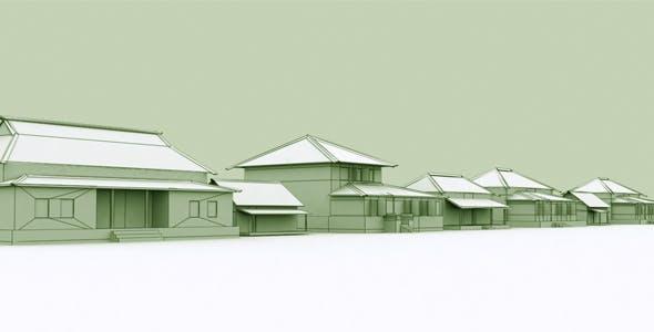 Village Home Set - 3DOcean Item for Sale