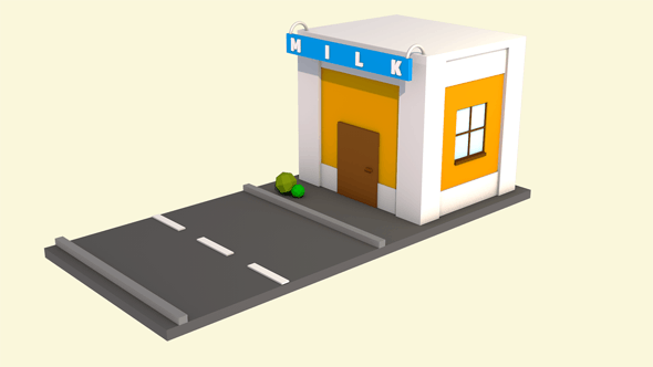 Low poly isometric home - 3DOcean Item for Sale