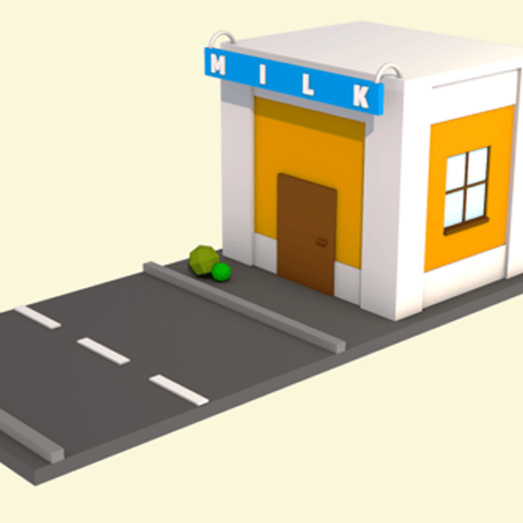 Low poly isometric home