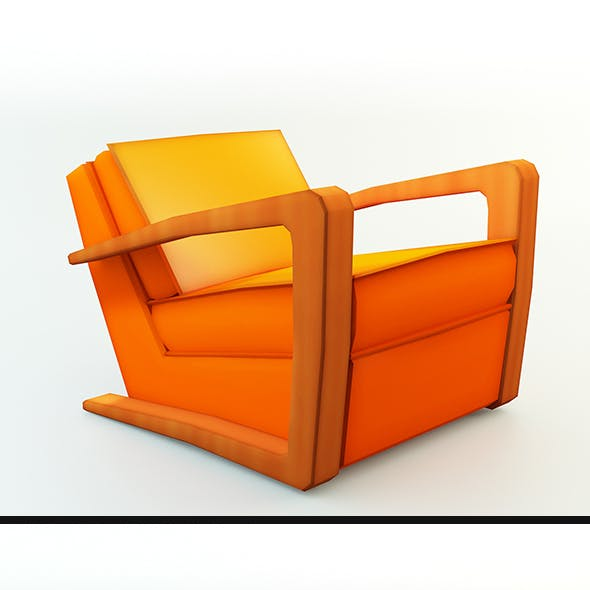 Low Poly Kustom Armchair
