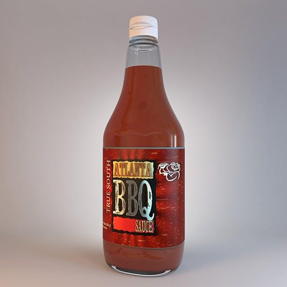 Bottle Of Sauce Atlanta BBQ - 3DOcean Item for Sale