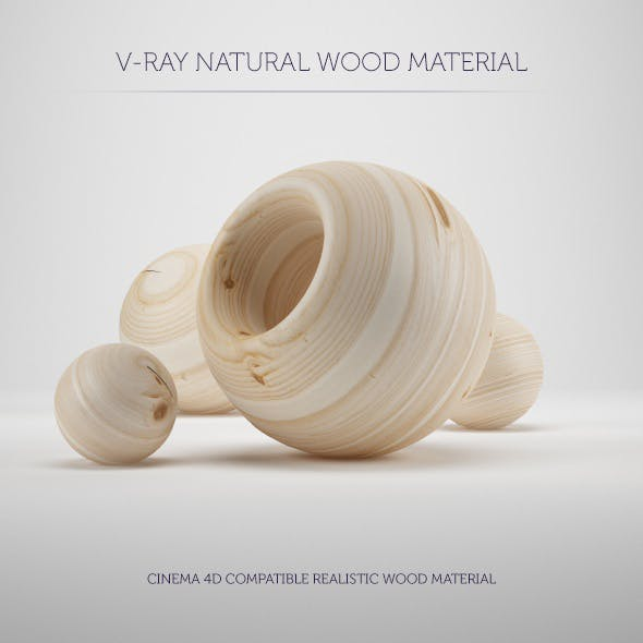 C4D V-Ray Natural Wood Material