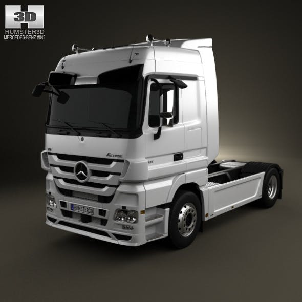 Mercedes-Benz Actros Tractor 2-axis 2011 - 3DOcean Item for Sale