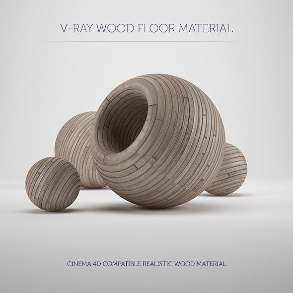 C4D V-Ray Wood Floor Material