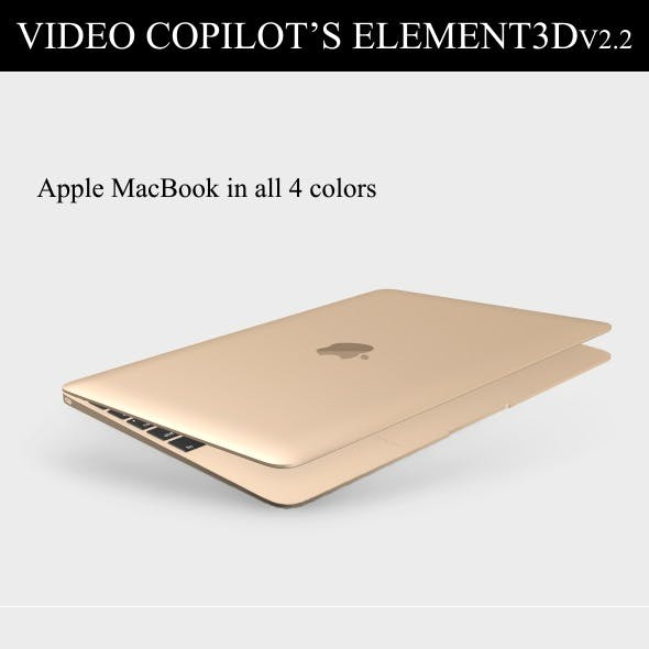Element3D - Apple Macbook 2015