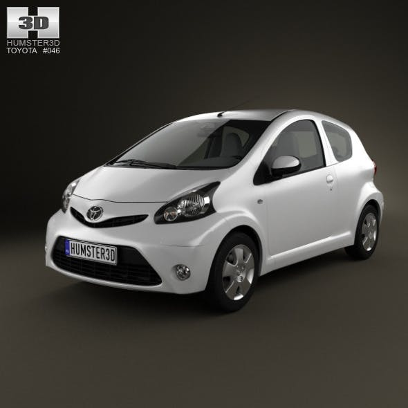 Toyota Aygo 3-door 2012 - 3DOcean Item for Sale