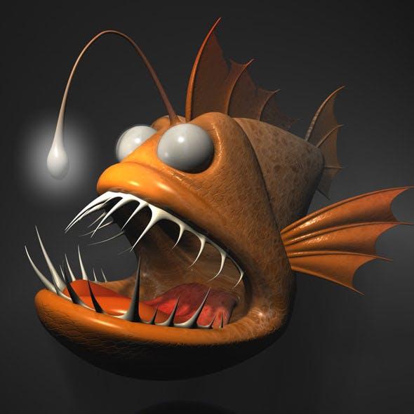Cartoon Anglerfish RIGGED