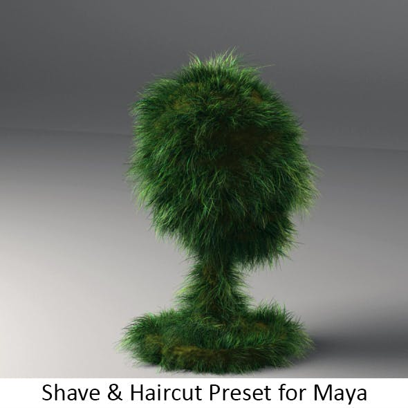 Realistic Shave Grass