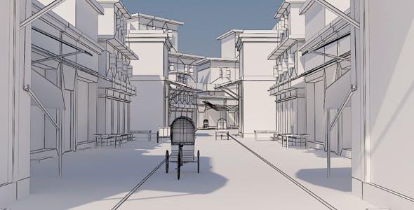 Old City Model - 3DOcean Item for Sale