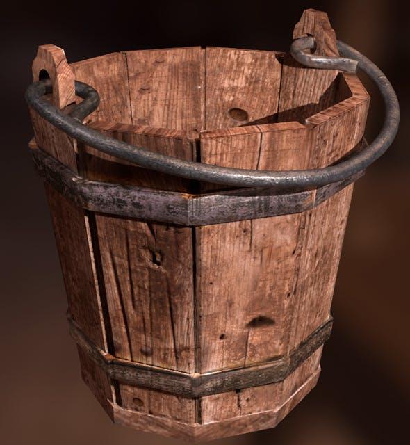 Detailed Medieval Bucket - 3DOcean Item for Sale