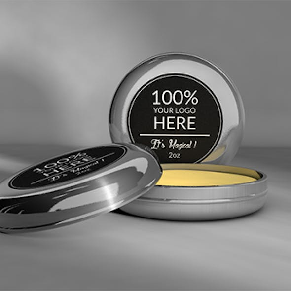 3D Metal Tins for balm, wax & pomade