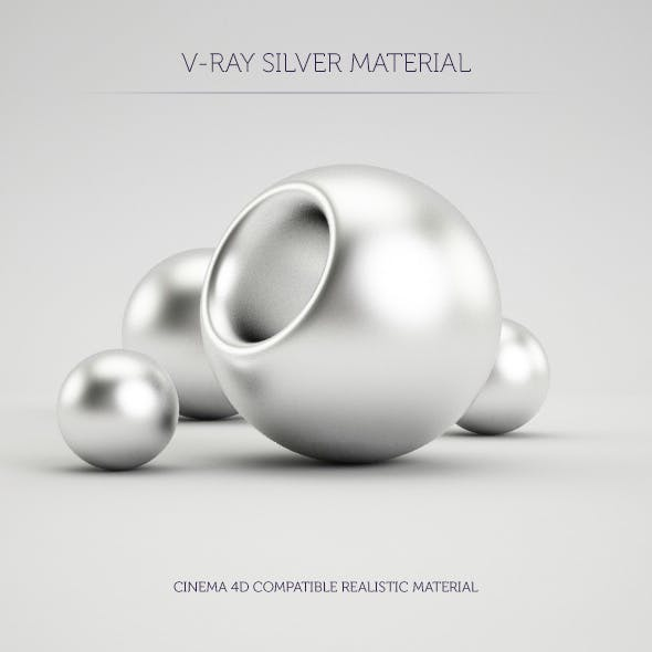 C4D V-Ray Silver Material