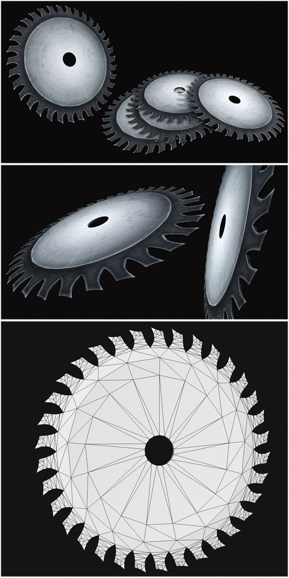 Saw Blade - 3DOcean Item for Sale