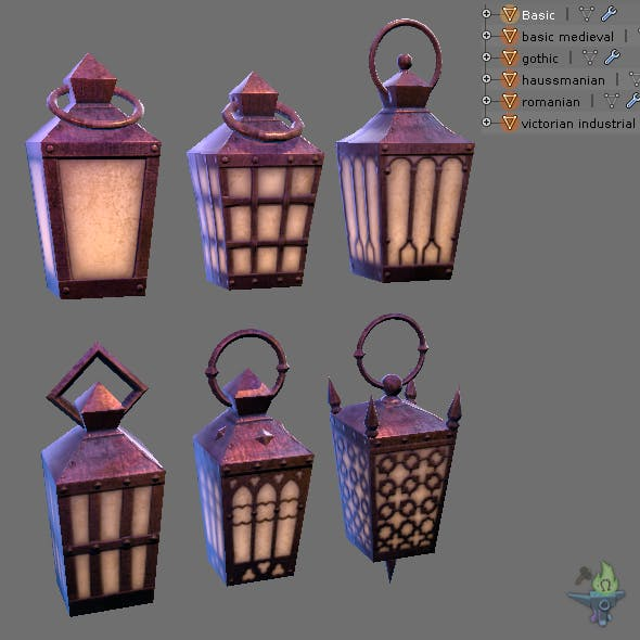 Game ready Hand Lantern - 3DOcean Item for Sale
