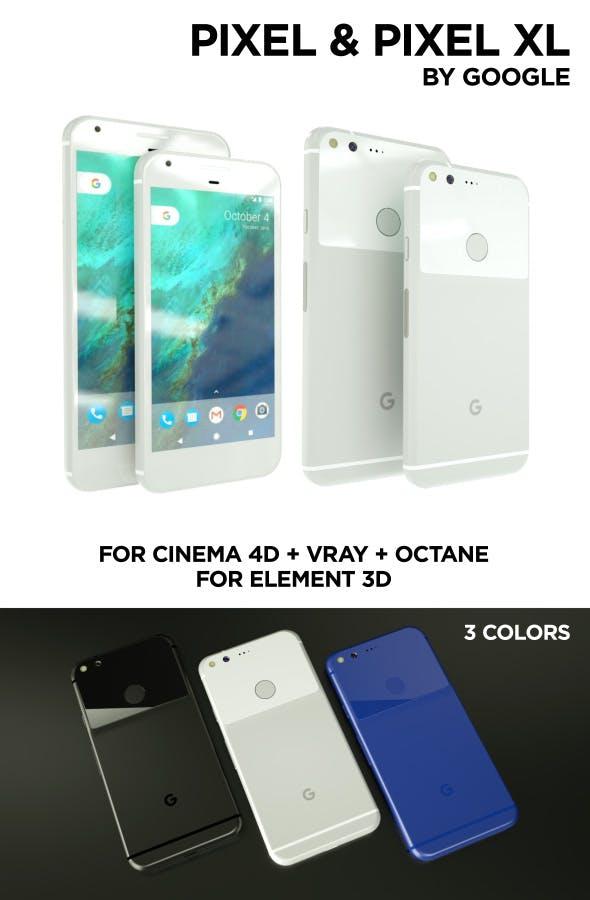 Google Pixel & Pixel XL - 3DOcean Item for Sale