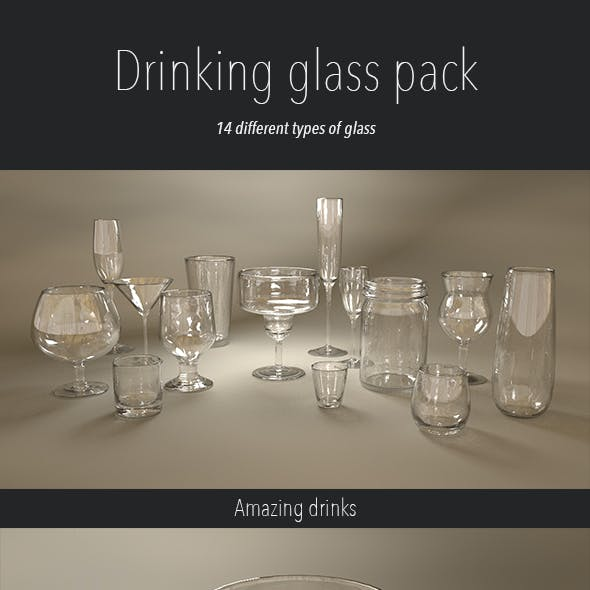 Drinking glass pack