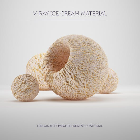 C4D V-Ray Ice Cream Material - 3DOcean Item for Sale