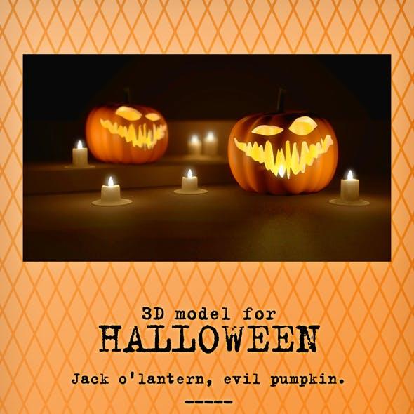 Evil Halloween Pumpkin