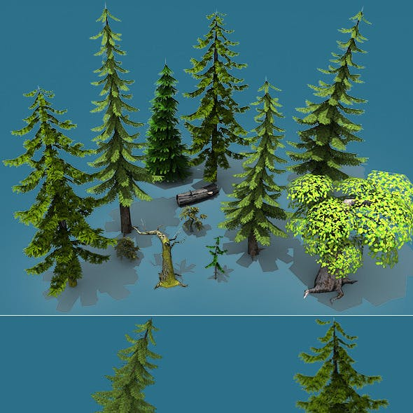 Low Poly Forest Pack (Trees Only)