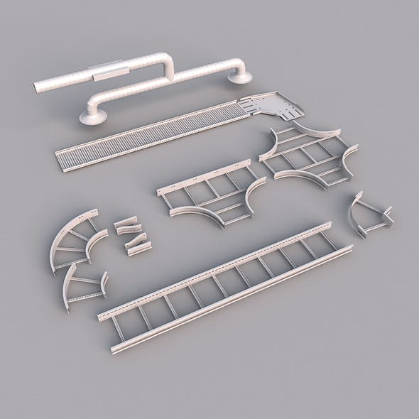 cable tray - 3DOcean Item for Sale