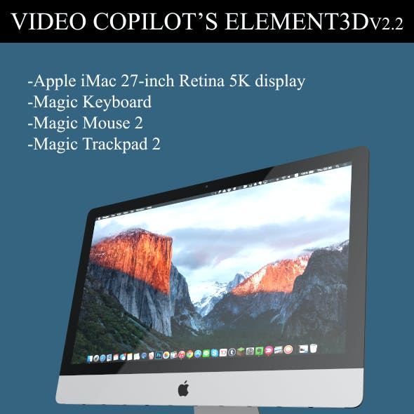 Element3D - iMac 2015 (Retina 5K 27-inch)