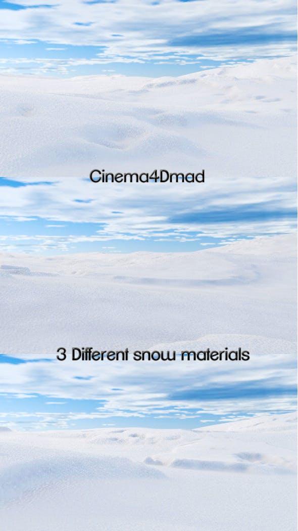 Snow materials x3 cinema 4d - 3DOcean Item for Sale
