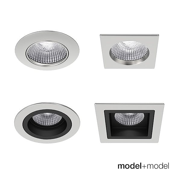Recessed spotlights collection - 3DOcean Item for Sale