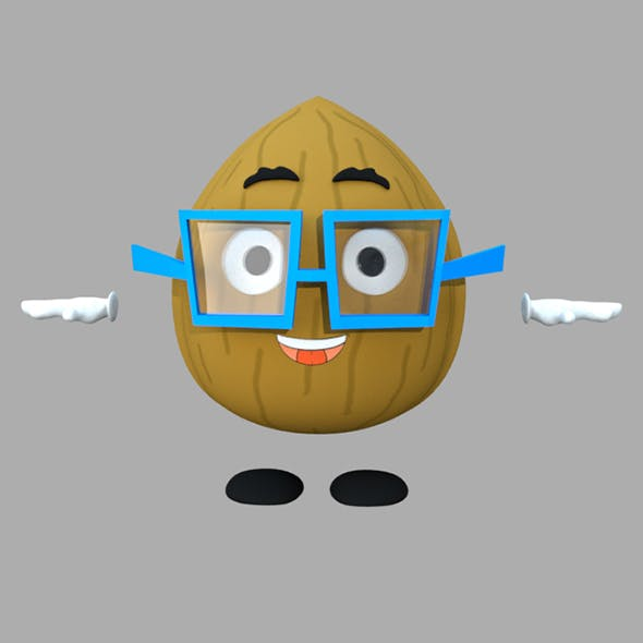 Walnut Cartoon 3D Character Rig