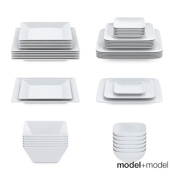 Set of square plates