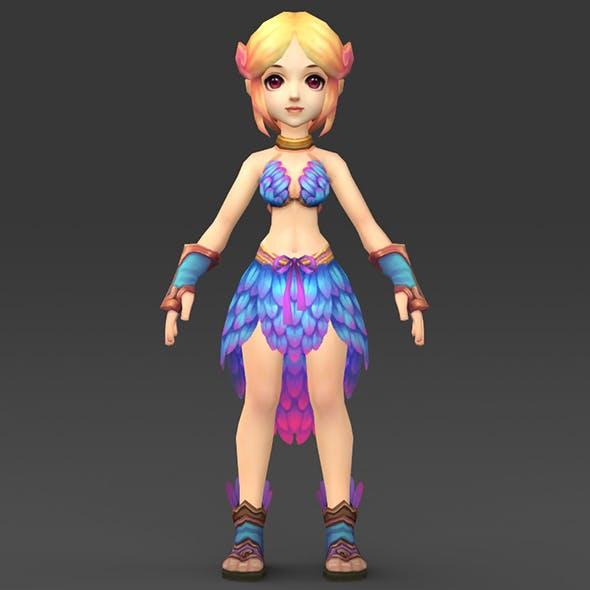 Cartoon Character Julni - 3DOcean Item for Sale