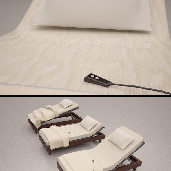3d Low poly Outdoor Beds