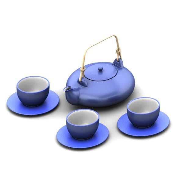 Japan tea set - 3DOcean Item for Sale
