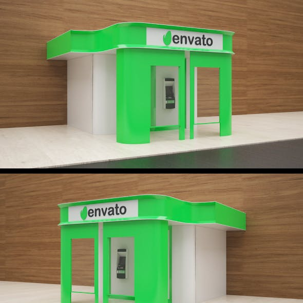 3d Outdoor ATM Machine