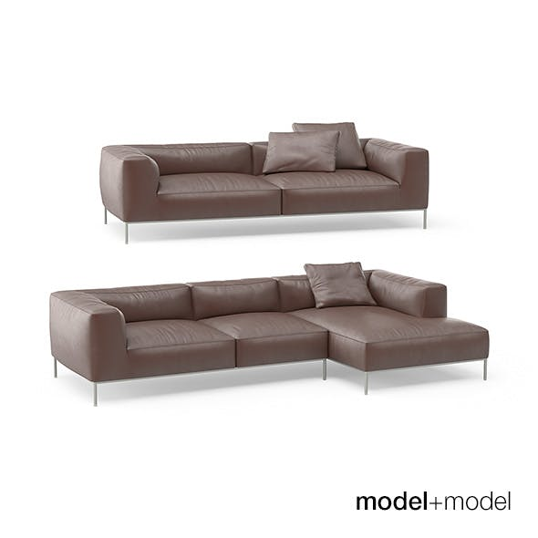 B&B Italia Frank sofas - 3DOcean Item for Sale