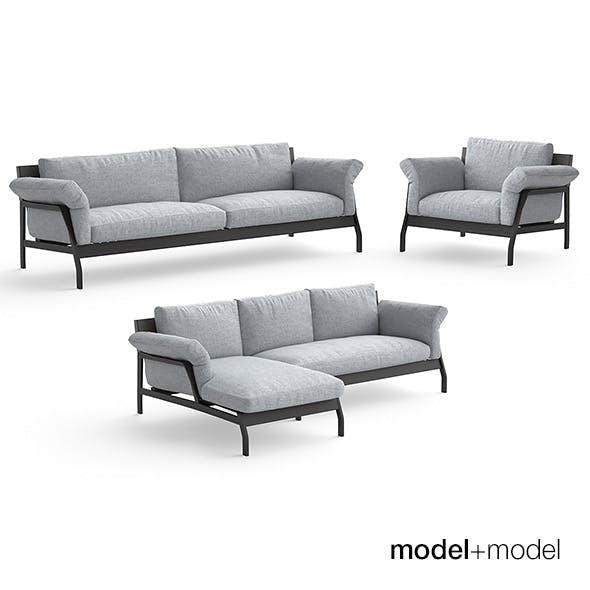 Cassina Eloro sofas and armchair - 3DOcean Item for Sale