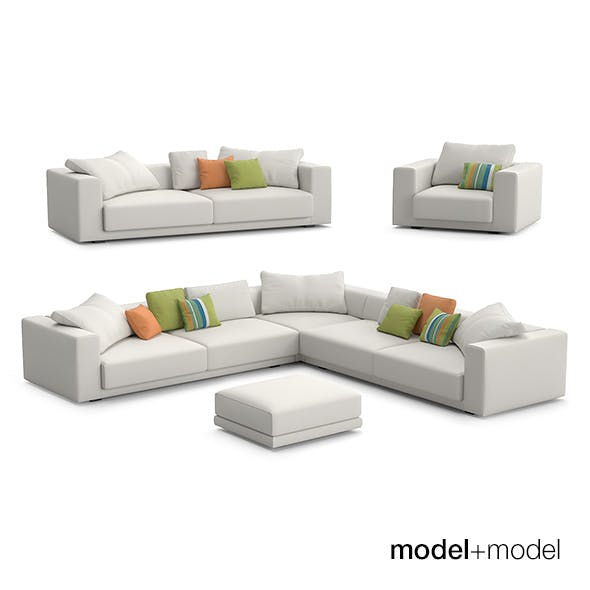 MDF Italia Sliding sofas and armchair