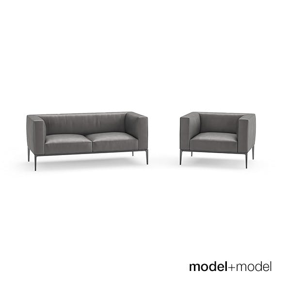 Walter Knoll Jaan sofas and armchair - 3DOcean Item for Sale