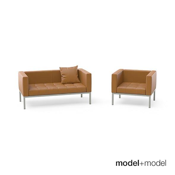 Zanotta Dama sofas and armchair - 3DOcean Item for Sale