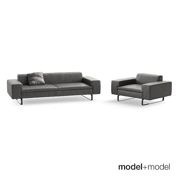 Arflex Moods sofa and armchair - 3DOcean Item for Sale