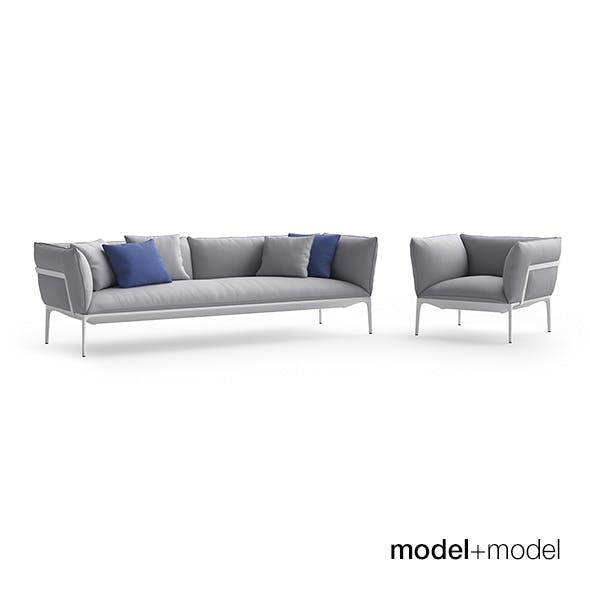 MDF Italia Yale sofa and armchair