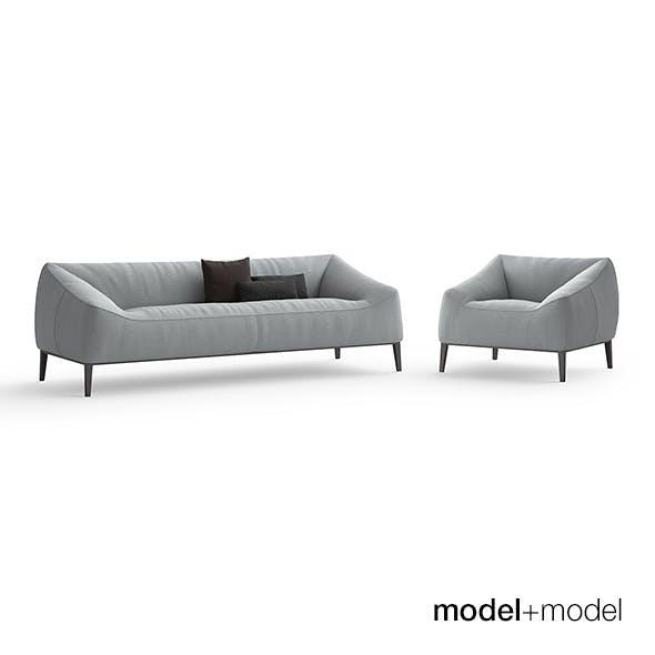 Poliform Carmel sofa and armchair - 3DOcean Item for Sale