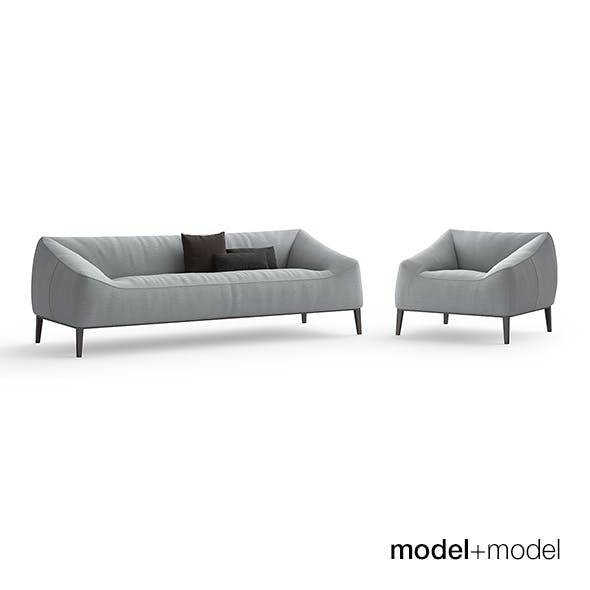Poliform Carmel sofa and armchair