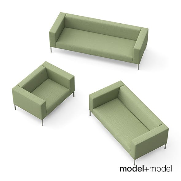 MDF Italia Alien sofas and armchair - 3DOcean Item for Sale