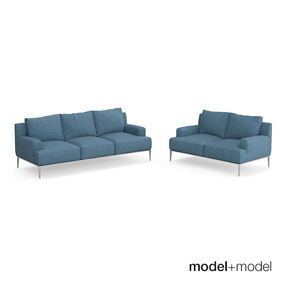 B&B Italia Jean sofas - 3DOcean Item for Sale