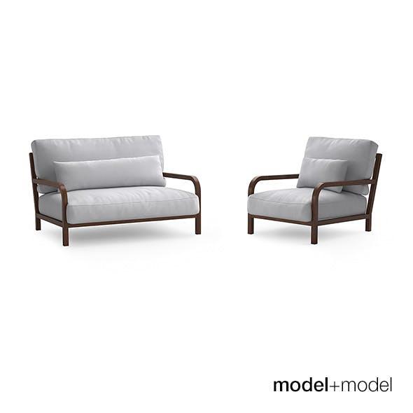 Linteloo Dario sofa and armchair - 3DOcean Item for Sale