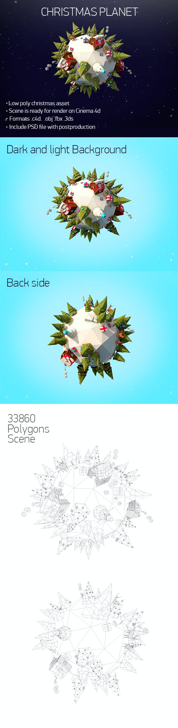 Christmas planet - 3DOcean Item for Sale