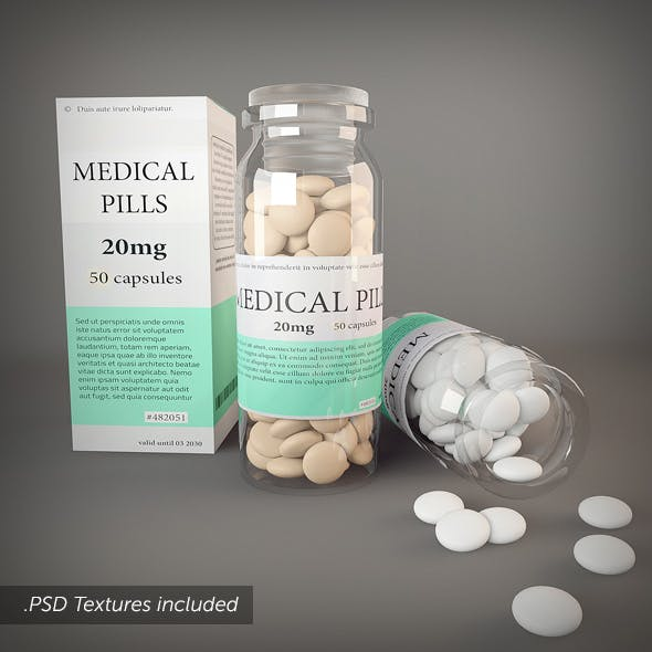 Medical Pills and Bottle